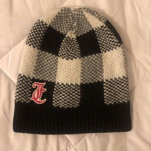 Juicy Couture Black Label Buffalo Check Beanie